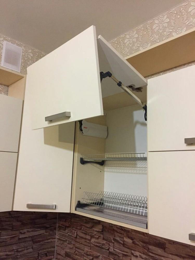 Белый кухонный гарнитур-Кухня МДФ в ПВХ «Модель 165»-фото3
