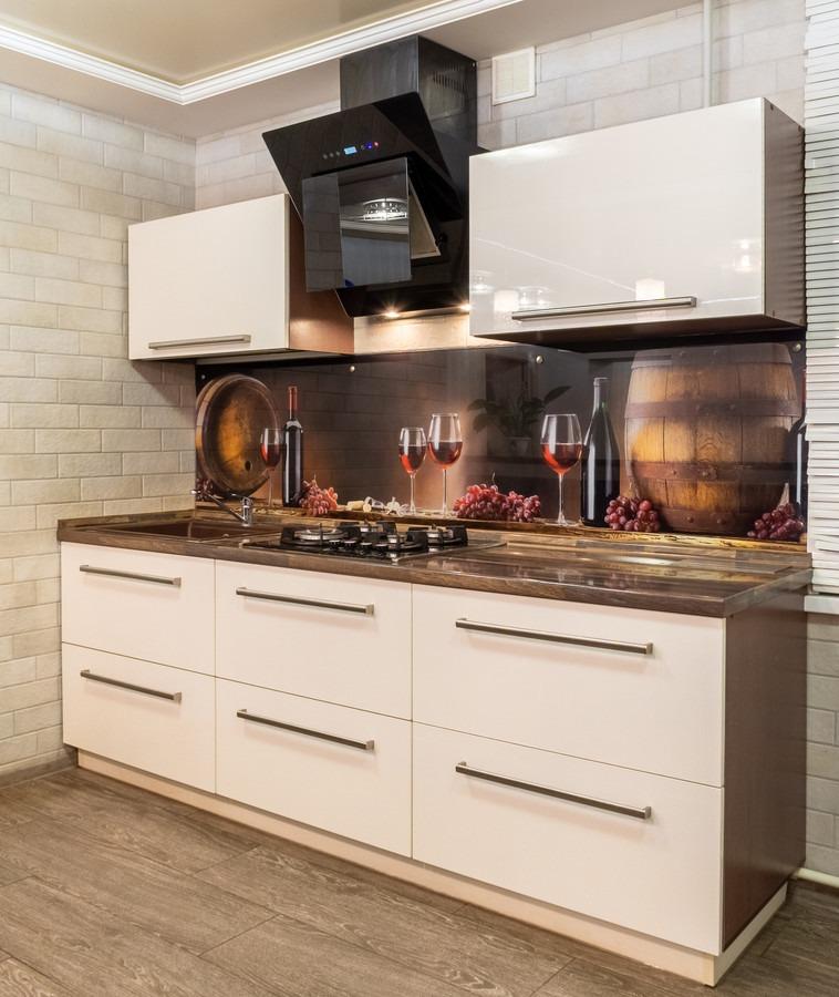 Бежевые кухни-Кухня из пластика «Модель 2»-фото2