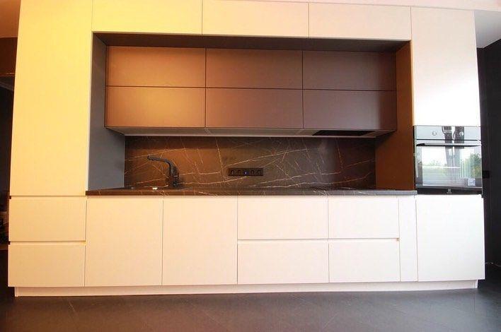 Белый кухонный гарнитур-Кухня МДФ в эмали «Модель 658»-фото1