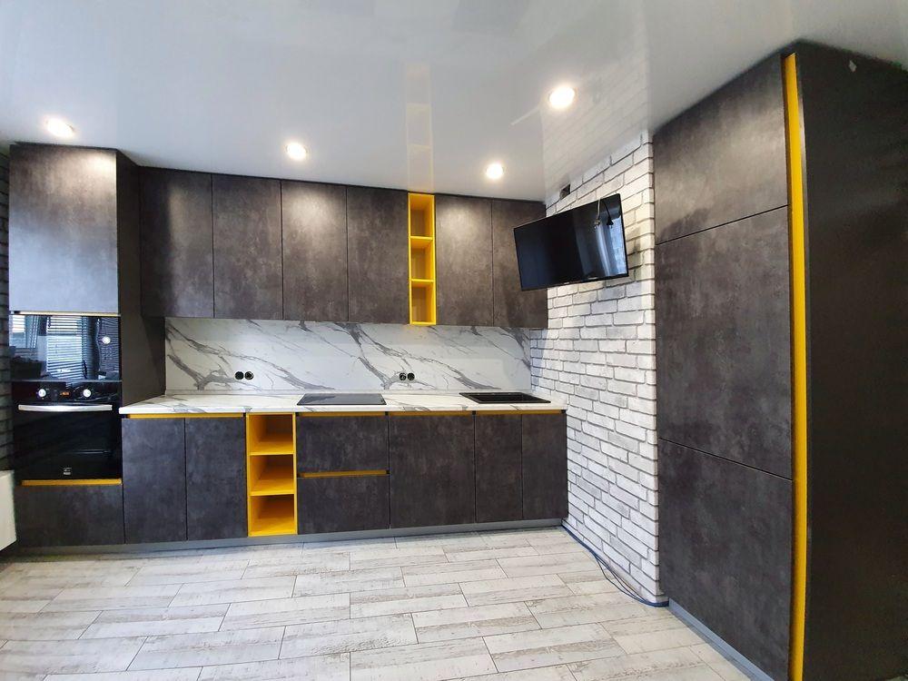 Встроенная кухня-Кухня МДФ в ПВХ «Модель 536»-фото2