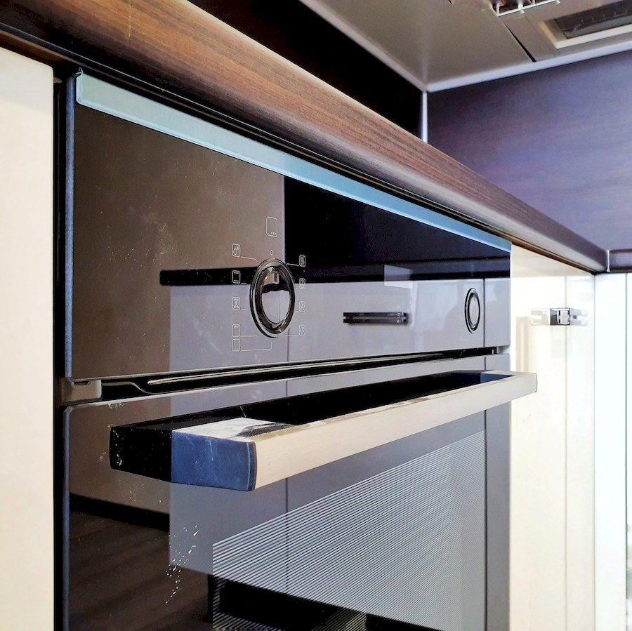 Белый кухонный гарнитур-Кухня из шпона «Модель 560»-фото7