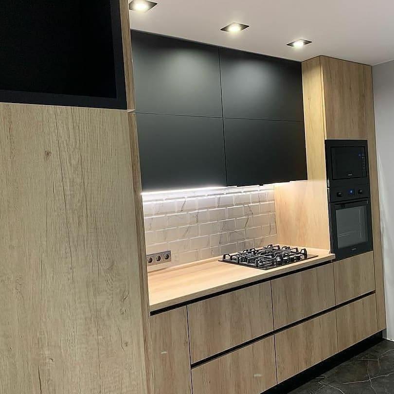 Высокие кухни под потолок-Кухня из ЛДСП «Модель 630»-фото3