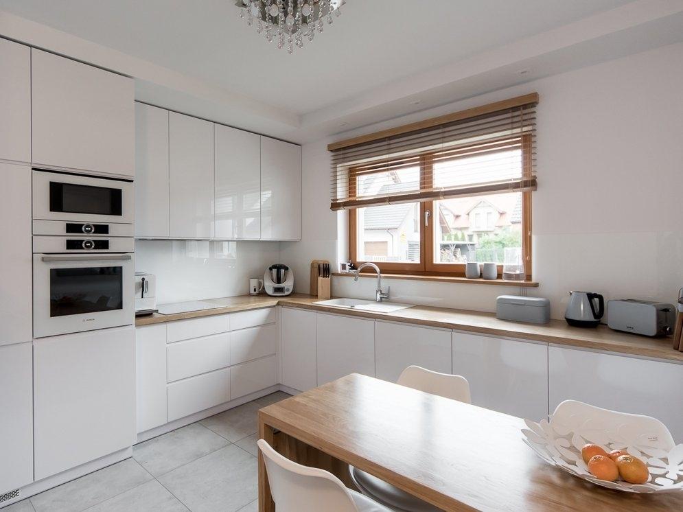 Белый кухонный гарнитур-Кухня МДФ в эмали «Модель 609»-фото1