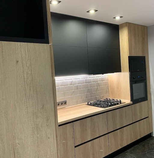 Высокие кухни под потолок-Кухня из ЛДСП «Модель 630»-фото7