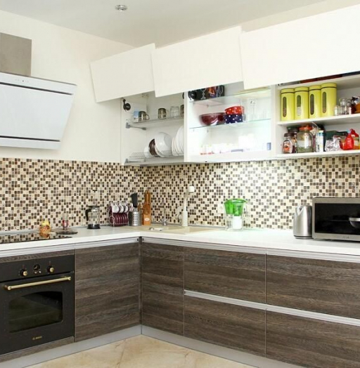 Белый кухонный гарнитур-Кухня из ЛДСП «Модель 655»-фото3